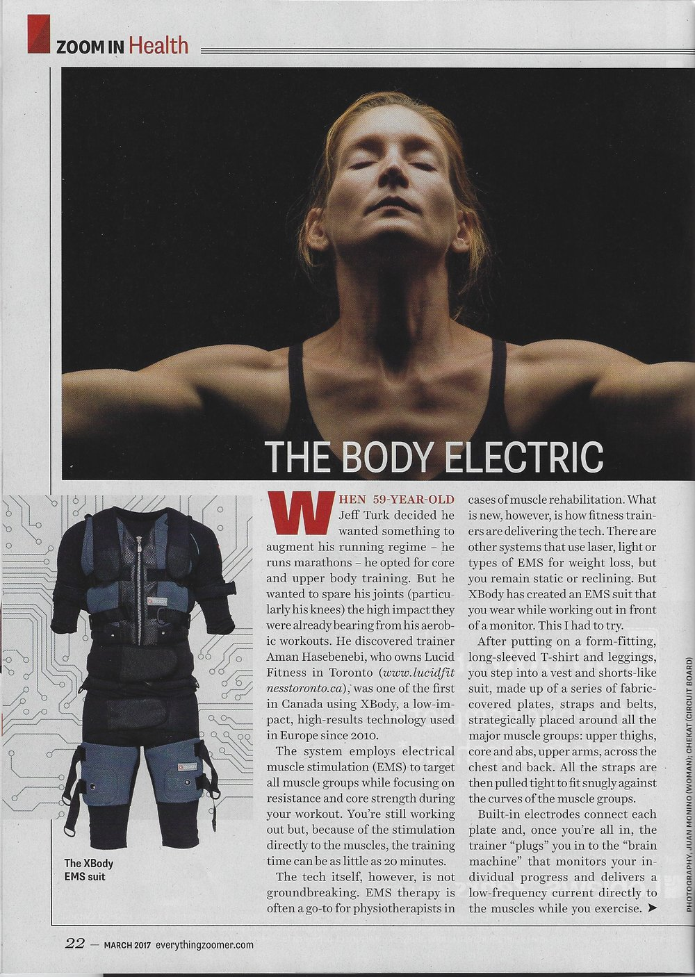 X Body EMS Training in Zoomer Magazine