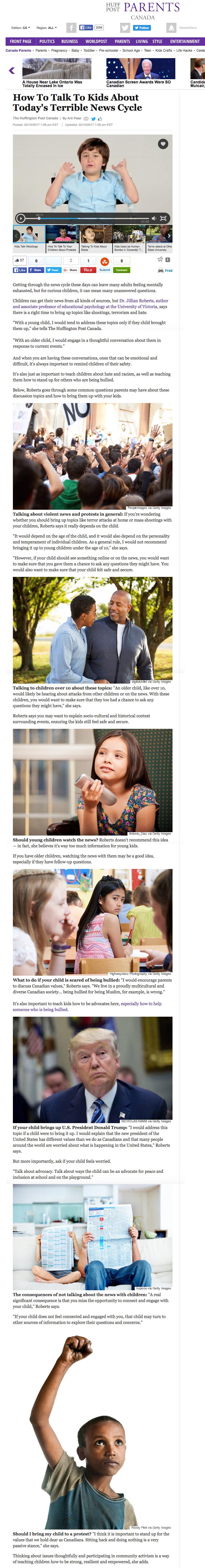 Dr. Jillian Roberts featured on  Huffington Post