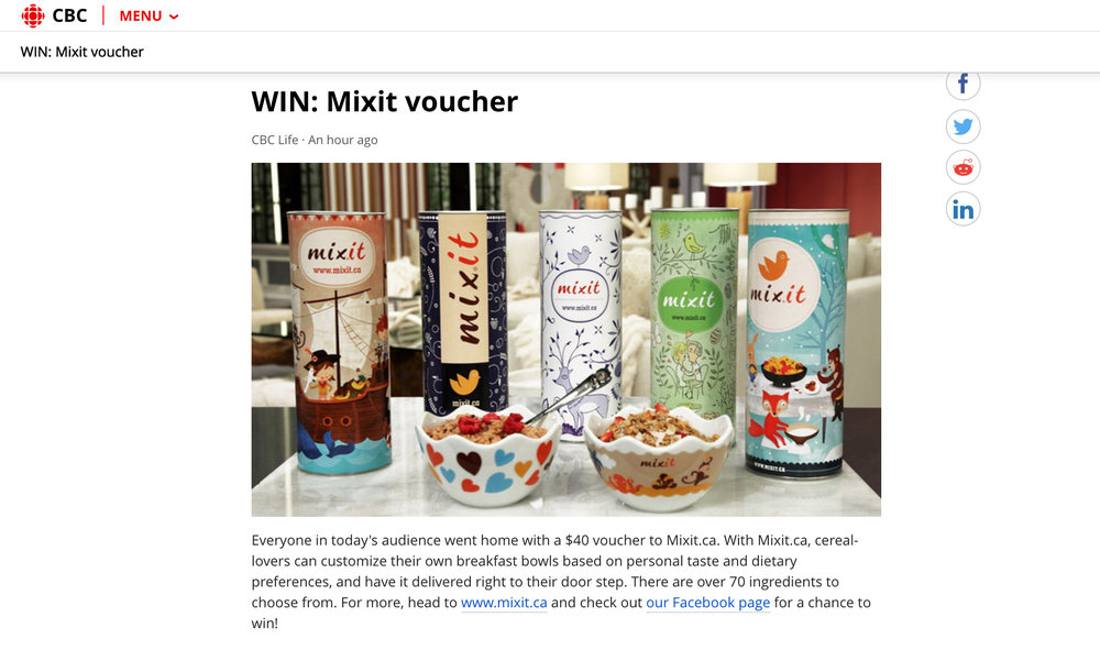 MixIt features in CBC News. www.cbc.ca