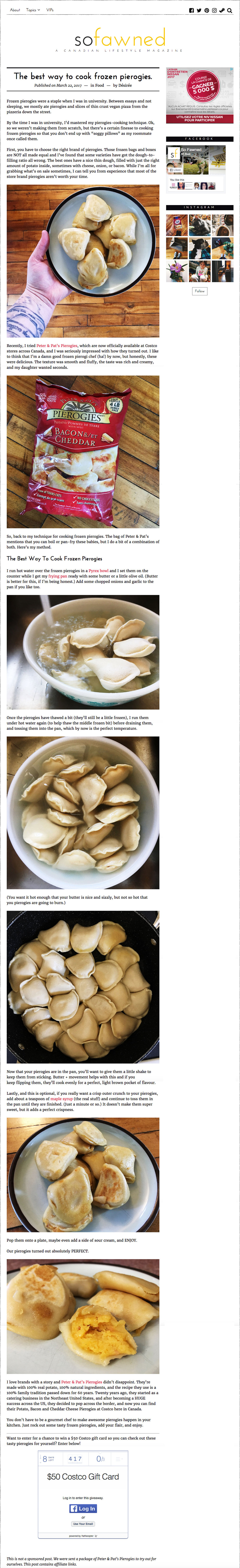 Peter & Pat's Pierogies featured in So Fawned. http://sofawned.com