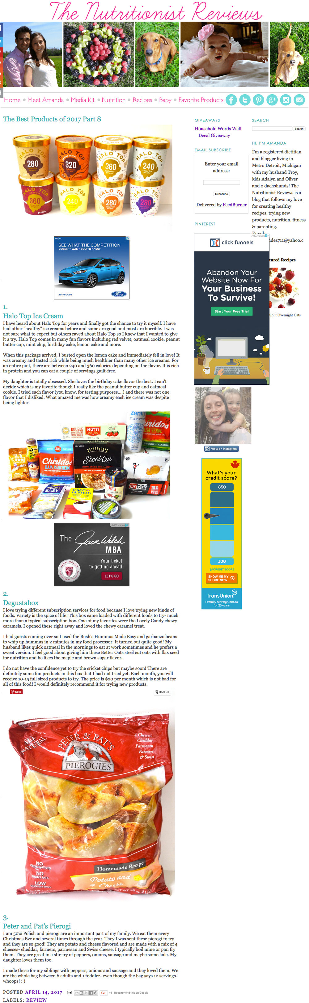 Peter & Pat's Pierogies featured on The Nutritionist Reviews