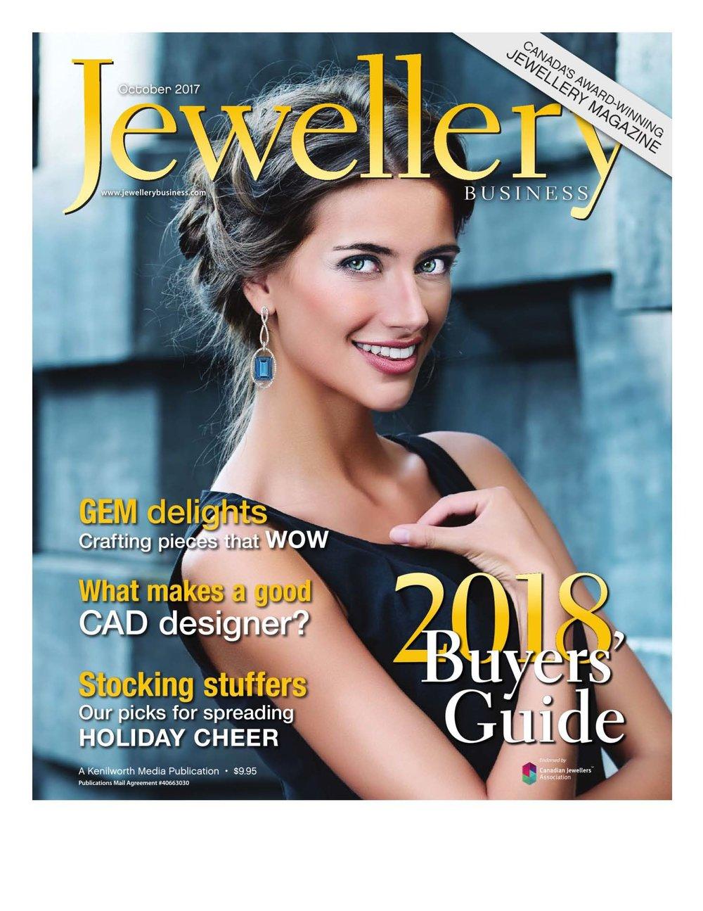 Anne Sportun featured in Jewellery Magazine