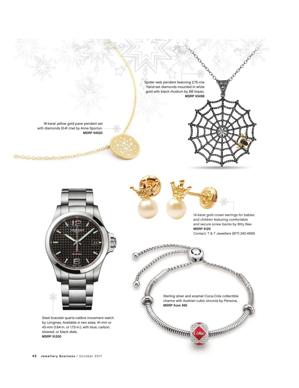 Anne Sportun featured in Jewellery Magazine