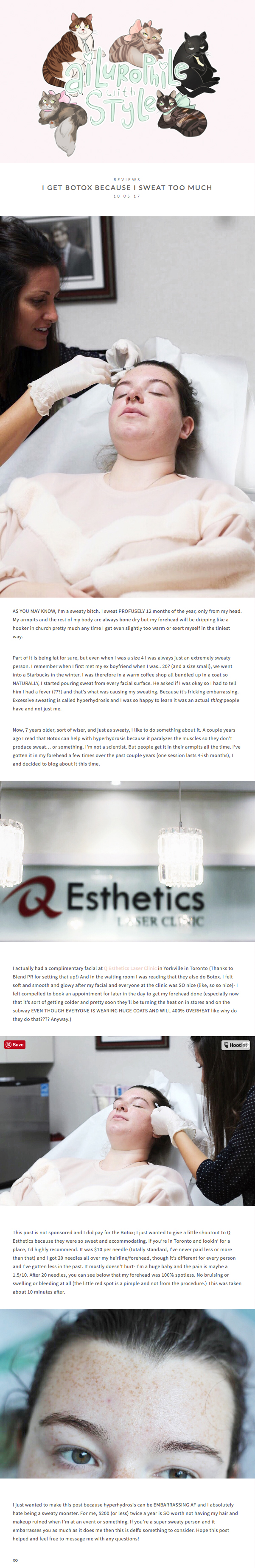 Q Esthetics featured on  Ailurophile with Style .