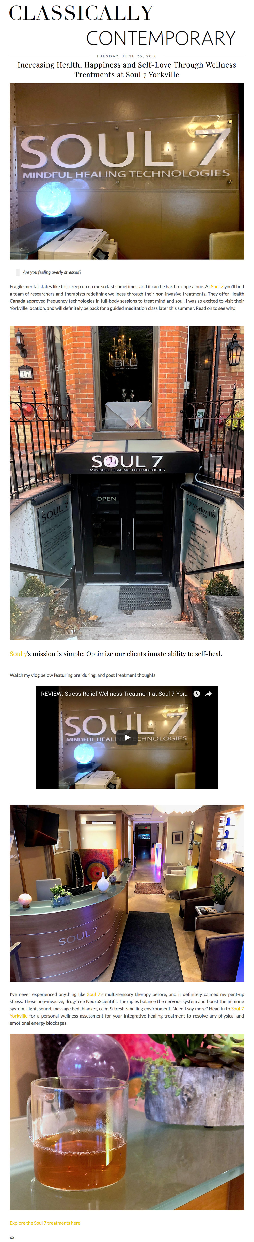 Soul7 featured in Classically Contemporary. www.classicallycontemporary.com