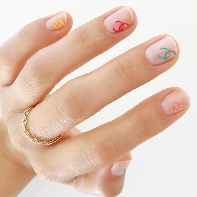 Some mani 💅🏻 inspo on a Monday ❤️ #mani #manicure #chanel #chanelnails #welovecoco via @betina_goldstein