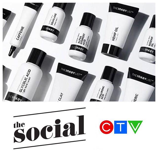 Our client @theinkeylist earlier this week in @CTV 's @thesocialctv 🙌🏼 #ClientLove #TorontoPR #CanadianPR #TheInKeyList #skincare #CTV #TheSocial #Toronto #BlendPR #BlendPRTO
