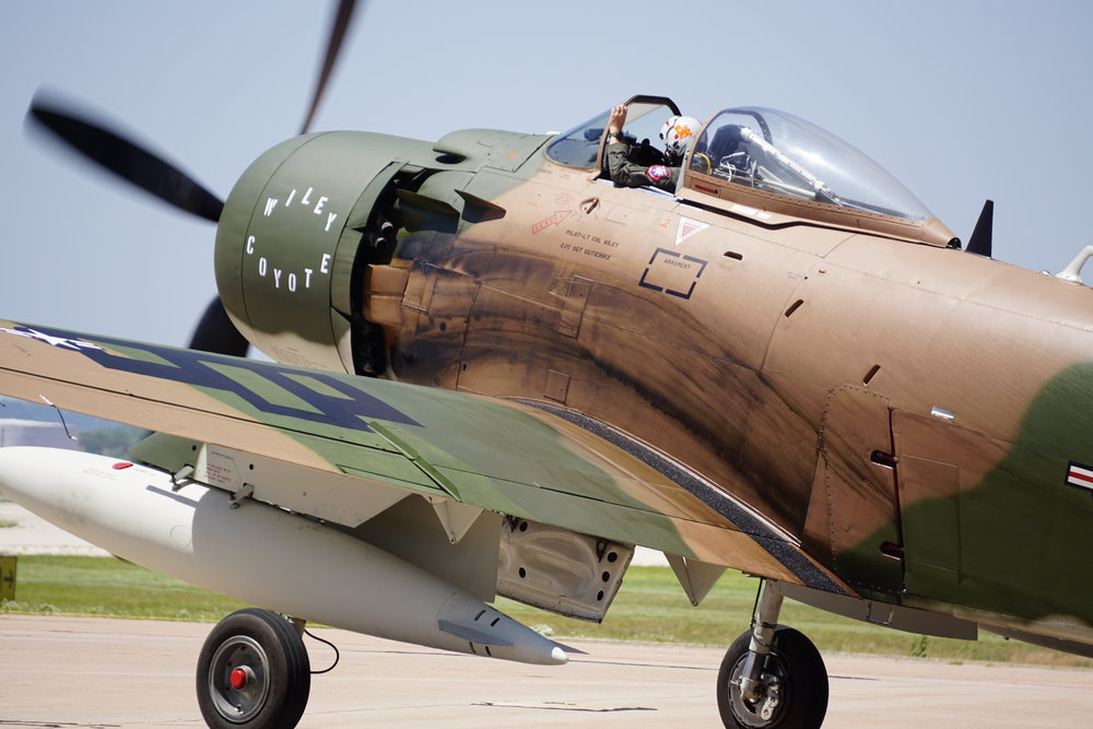 World War II plane at the Big Country Airshow in Abilene, Texas