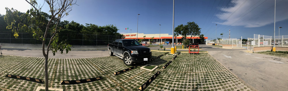 My truck outside the Home Depot in Playa Del Carmen, Mexico when I drove my camper through Mexico.