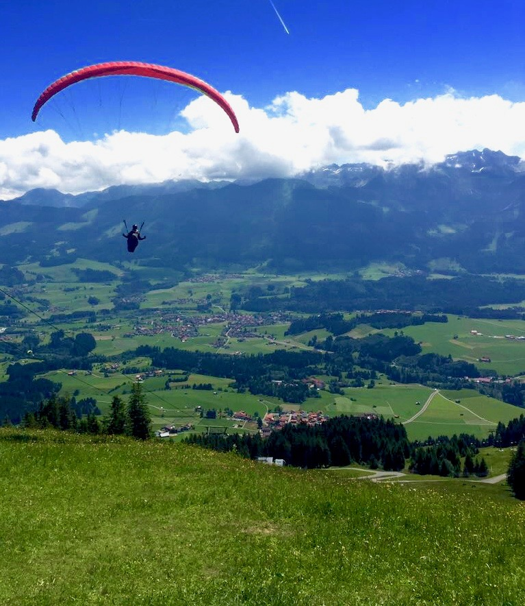 I also have fun during my travels. :) Launching the Bavarian Alps -  Sonthofen, Germany