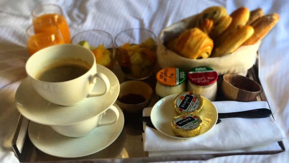 One of our favourite breakfasts included in a stay was in Paris, France at the  Dupond-Smith.