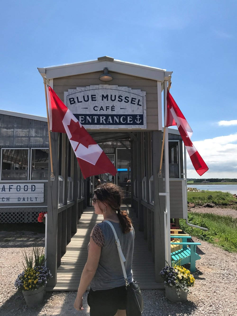 Entrance to Blue Mussel Cafe