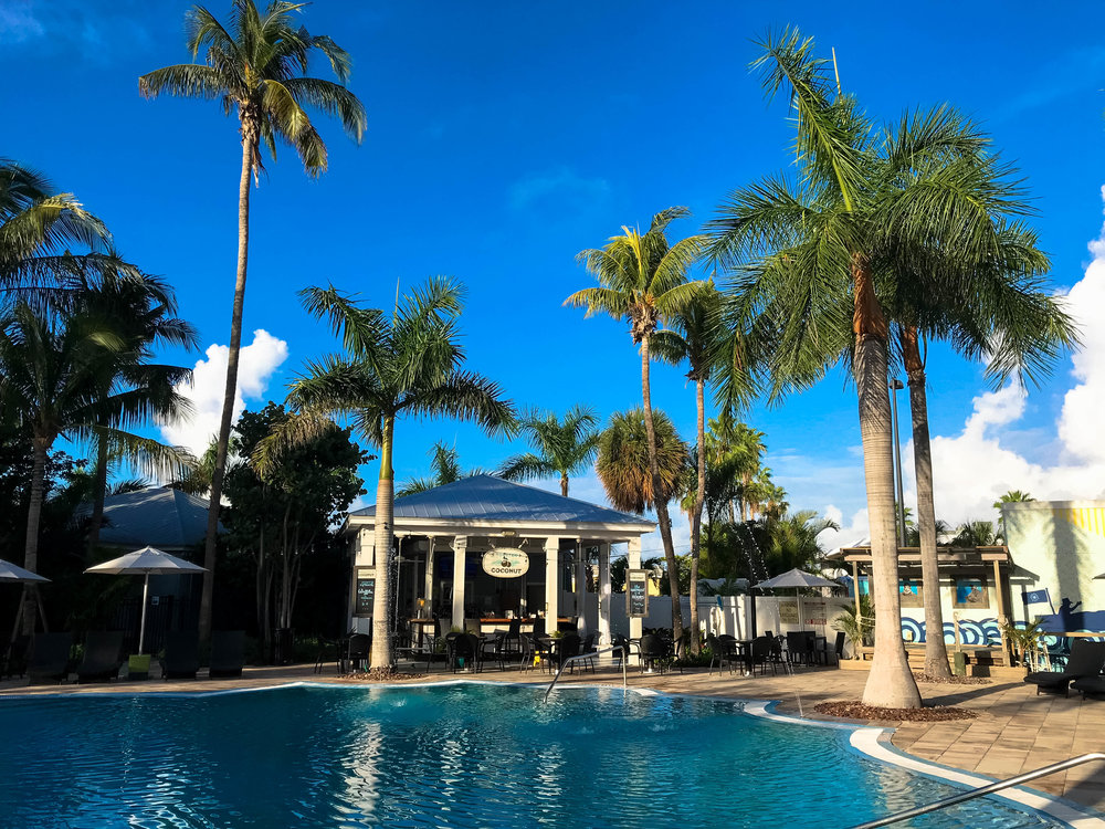 The pool at 24 North Hotel, Key West.