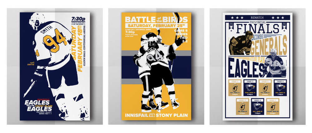Game 3 and 5 Stony Plain Eagles Poster
