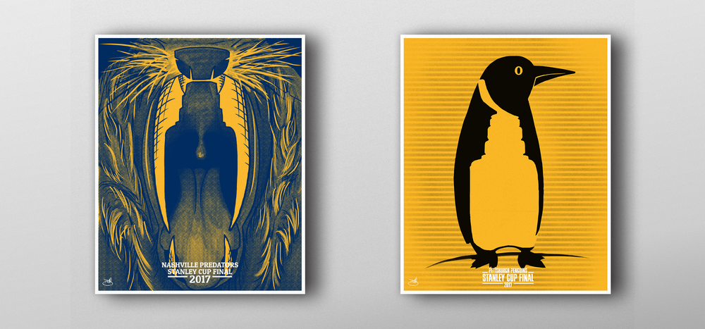 Predators and Penguins Stanley Cup Posters