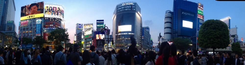 Shibuya scramble crossing.