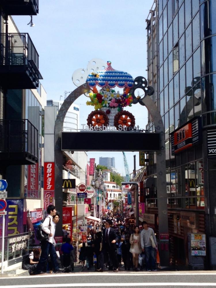 Takeshita Street in Harajuku.