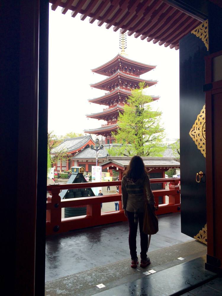 My husband took this photo, this is me inside Sensō-ji temple.