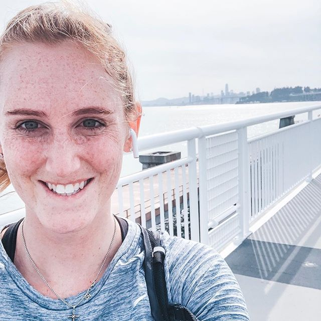 I cancelled my Precision Run class this morning because I thought my legs were too tired. Then I ended up spontaneously running 9 miles across the Bay Bridge 🤷🏼♀️🤪 I've always wanted to run across the bridge and today I had the urge to just do it. I thought I'd make it just half way across the bridge and turnaround, but I felt great and decided to keep going 🏃🏼♀️🏃🏼♀️🏃🏼♀️ I made it to the end of the bridge at Yerba Buena Island and then turned around back to Emeryville. It was just over 9 miles round trip and now I'm ready for a nap 😴😂 #run #runoakland #runbaybridge