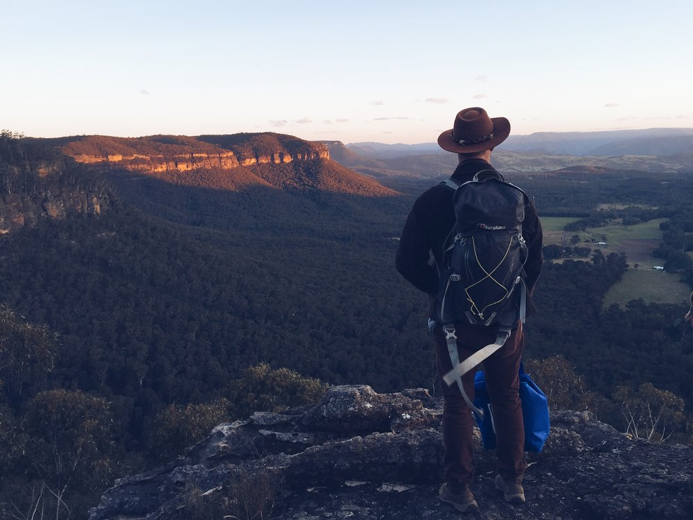 overlooking the blue mountains new south wales australia