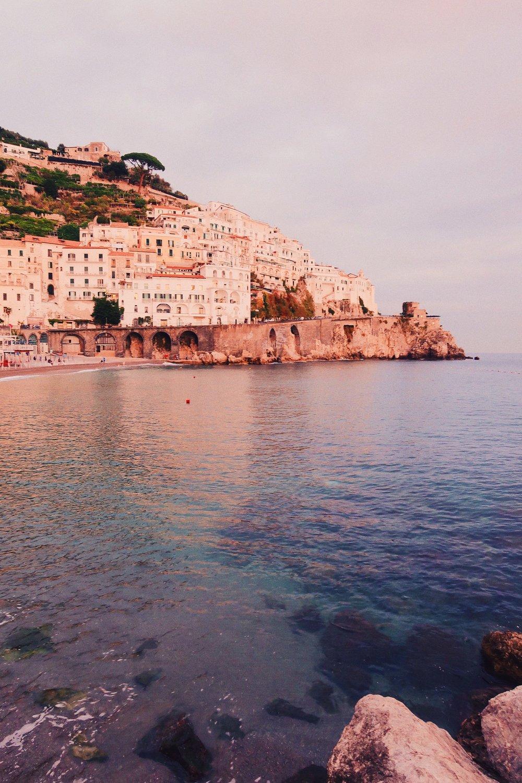 Amalfi Coast at Sunset Italy