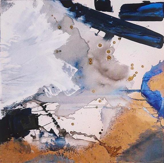"""From The sky - Acrylic on canvas36"""" x 36""""91 x 91CM"""