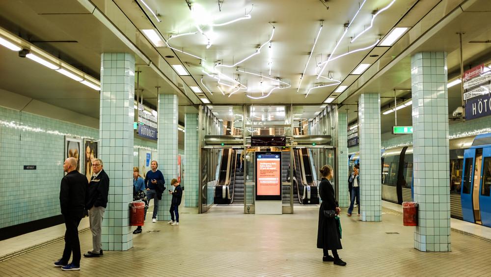 Hötorget Station - Green Line