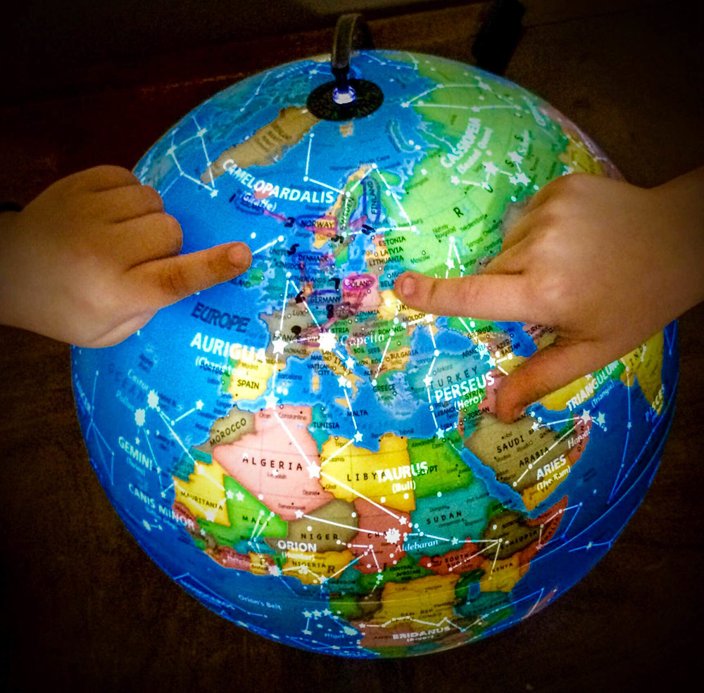 Mapping our Journey on their globe