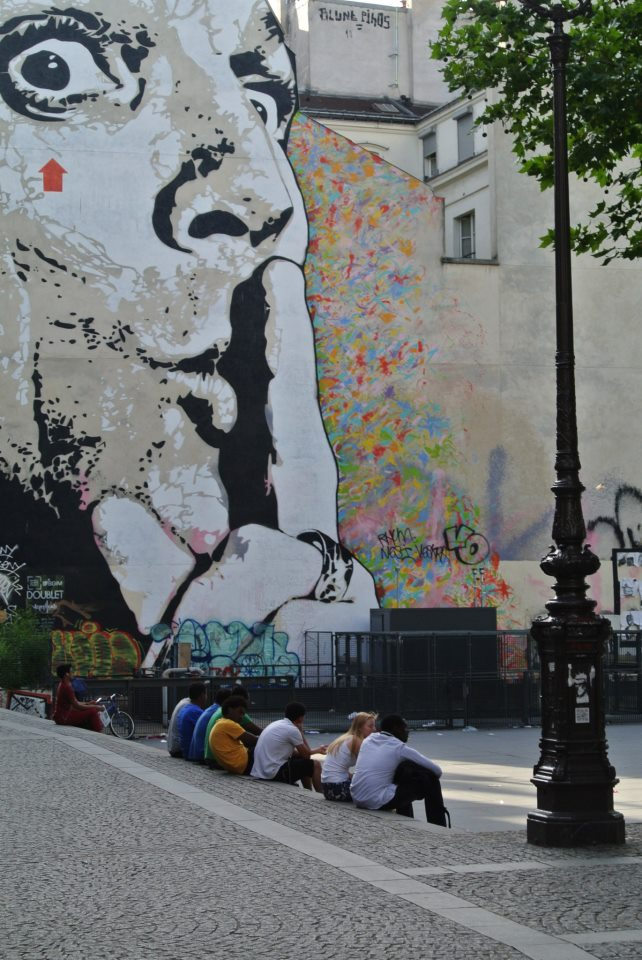 One of our encounter with European Urban art. Paris, France next to the Pompidou Museum 2012