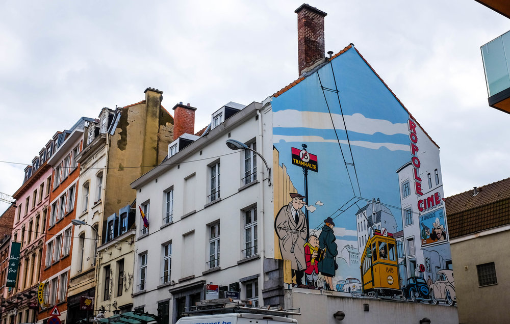 Comic Strip wall art around Brussel, 2016