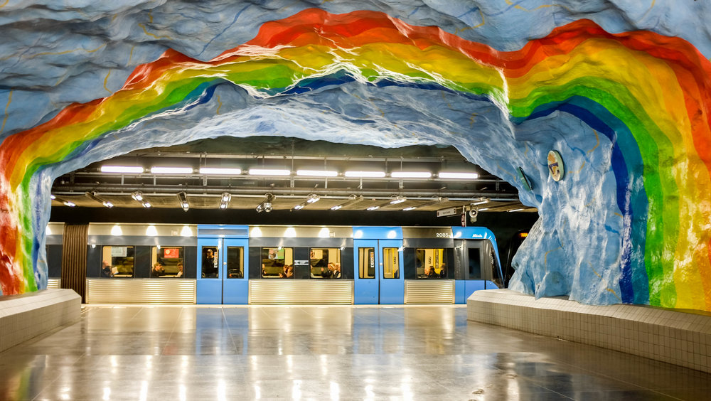 Subway art in Stockholm, Sweden 2016. Check out our blog about more subway art in Stockholm