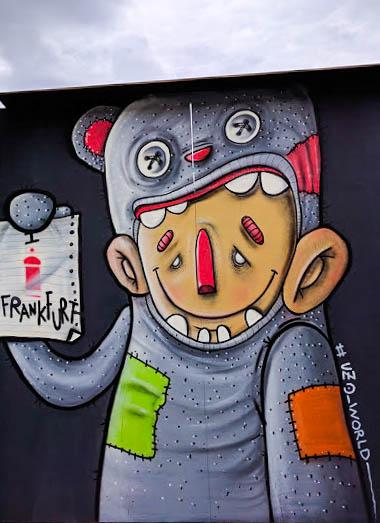 Art across form Frankfurt's main rail station,Frankfurt Hauptbahnhof. 2016