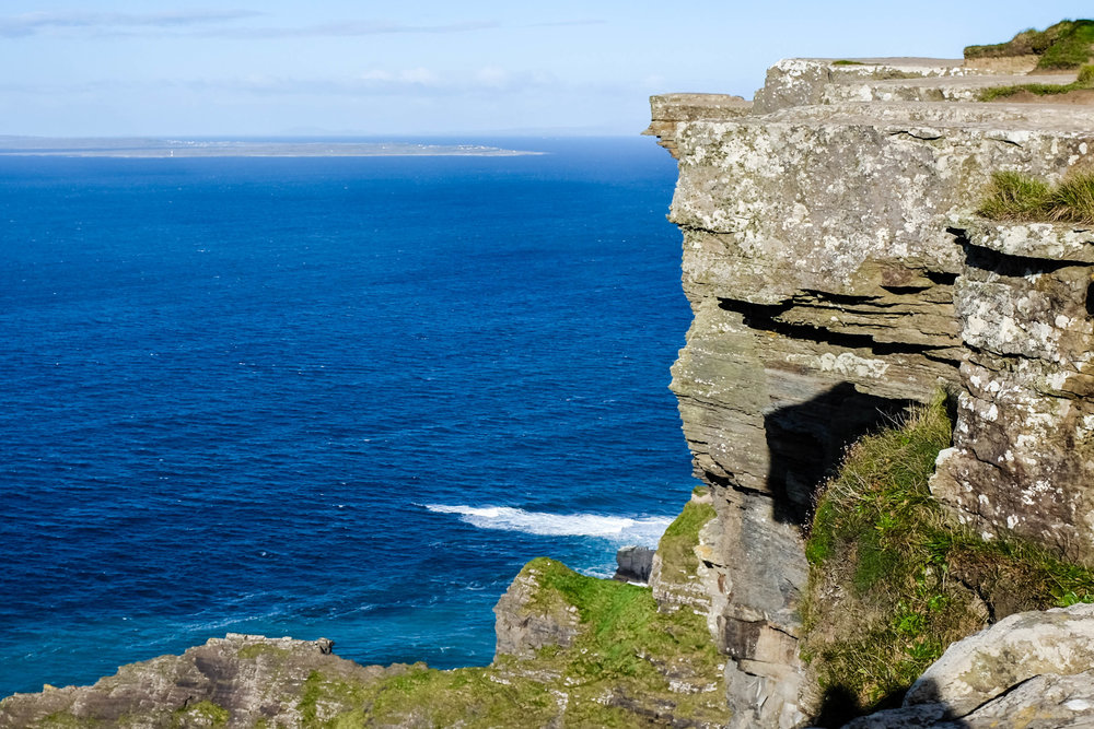 The day was so clear you could even see the Aran Islands off in the distance.