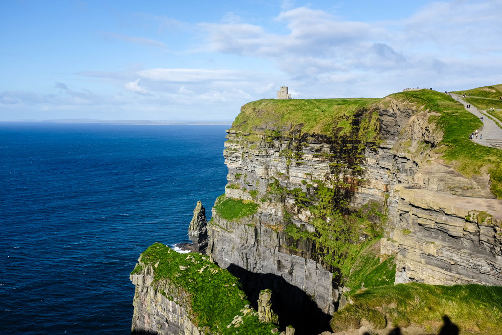 The view we were welcomed to as we waled up to the Cliffs of Moher