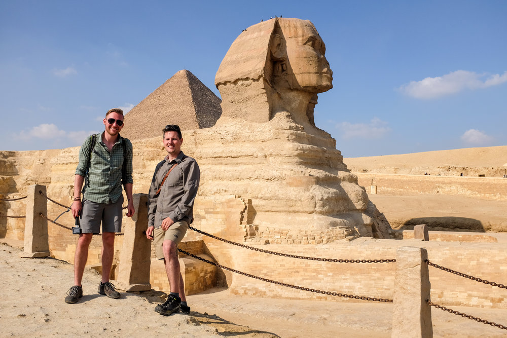 Hanging out at the Sphinx. Giza, Egypt 2016