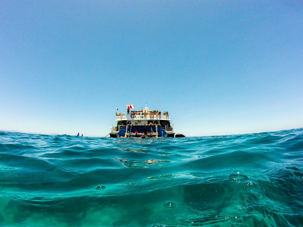 The boat, the Ocean, the Great Barrier Reef... we couldn't have asked for anything else.