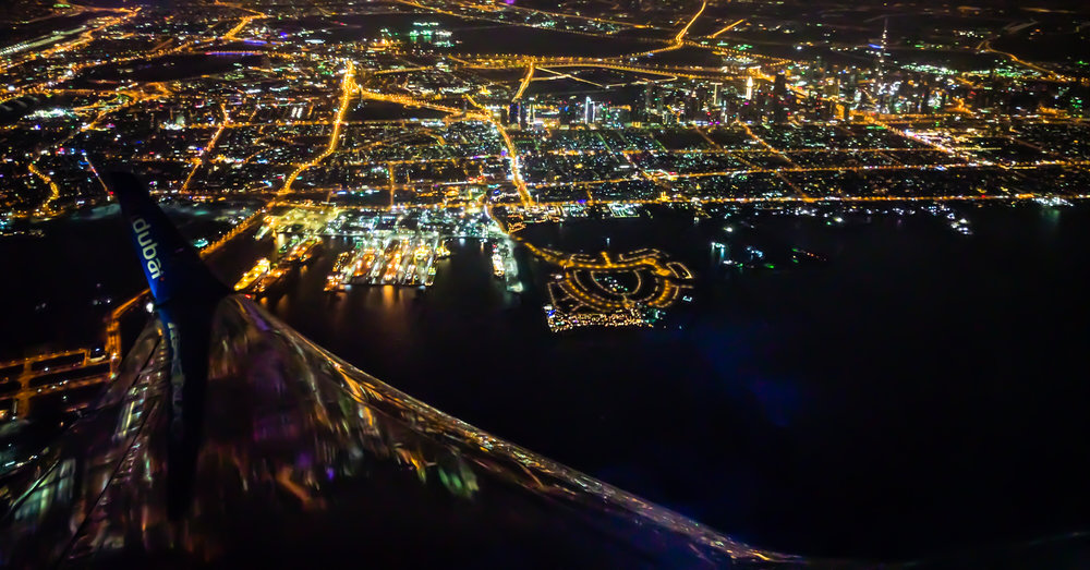 This was our snapshot of Dubai from above at night. We could feel the life of the city even from up here! Taken in 2016