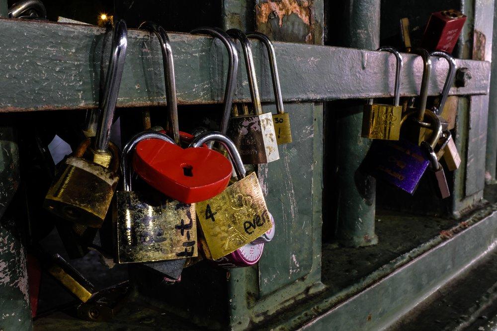 City of Love. Locks.