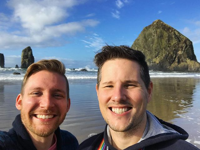 Happiest of Birthdays to my love, Brad! We decided to celebrate by driving out to the Oregon coast for Whale Watching Week! Hopefully we will get to see some today! #cannonbeach #oregoncoast #oregon #travel #traveloregon #gaytravel #gay #gays #gaystagram #gaycouple #gayboy #gaymen #happybirthday #birthdayboy #celebrate #trippic #travelphotography #haystackrock #instagood #instafun #lovehim #love