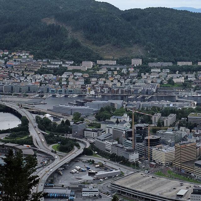 Panoramic view of Bergen, Norway, August 3, 2016. . . . #panorama #panoramic #panoramicview #wanderlust #travel #igtravel #backpack #backpacking #fujifilmx100t #norway #cityviews #cityscape #norwaytravel #travelphotography #traveller #worldtraveler #travelgram #latergram #funicular