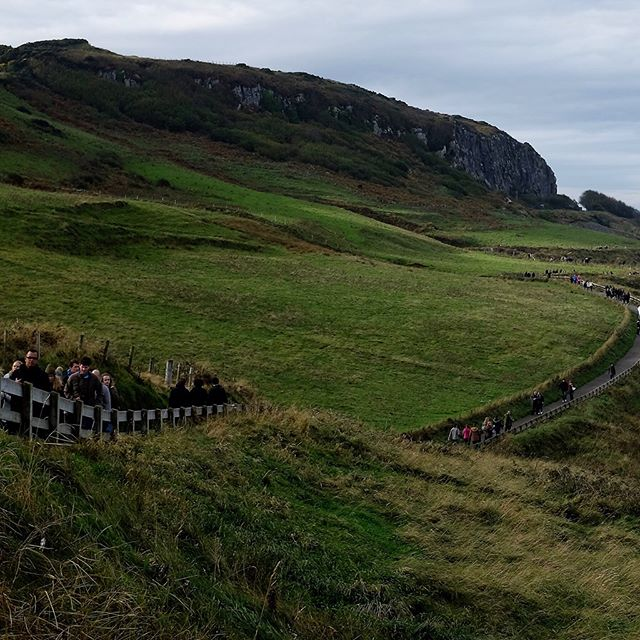 Panoramic view off the northern coast of Northern Ireland as we headed toward the Carrick-a-Rede Rope Bridge, October 30, 2016. . . . #panorama #panoramic #panoramicview #wanderlust #travel #igtravel #backpack #backpacking #fujifilmx100t #northernireland #ropebridge #travelphotography #traveller #worldtraveler #travelgram #latergram