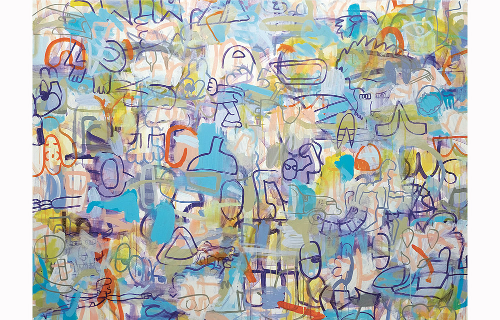 """Eyesolation Barrier"", Acrylic on Canvas, 60"" x 80"" 2015"