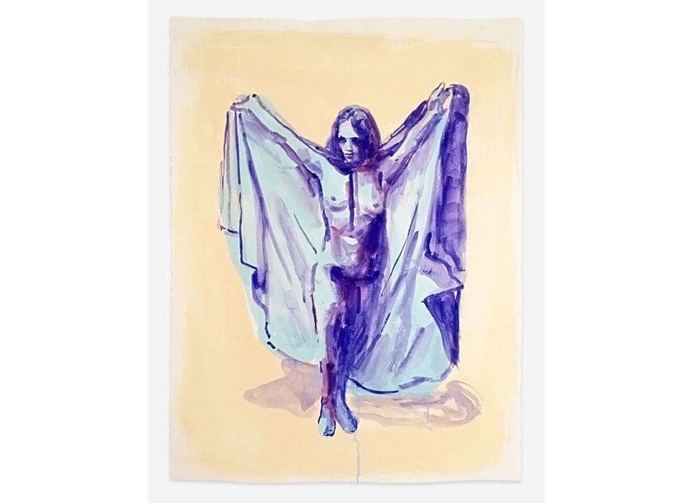 """Le Frisson des Vampires 1971, Gouache on Paper, 30"""" x 22"""", 2014"""