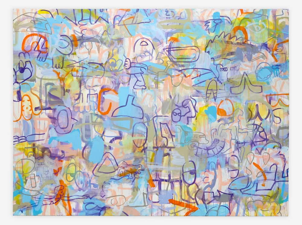 "Eyesolation Barrier,  Acrylic on Canvas, 60"" x 80"", 2015"