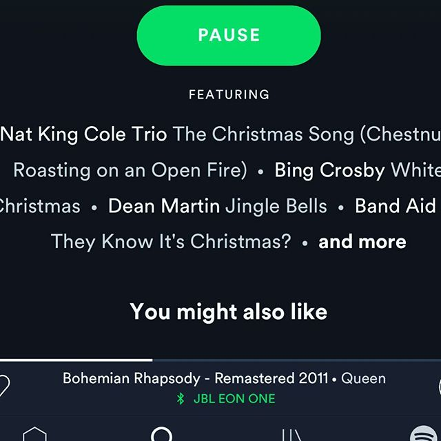 My phone is watching me HARDCORE!!! I put Christmas music on @spotify then googled the movie #bohemianrhapsody. THEN!! I looked up #astarisborn. THEN!!!! #bohemianrhapsody started playing followed by #shallow WHAT!!!!! On the Christmas Channel. #creepy