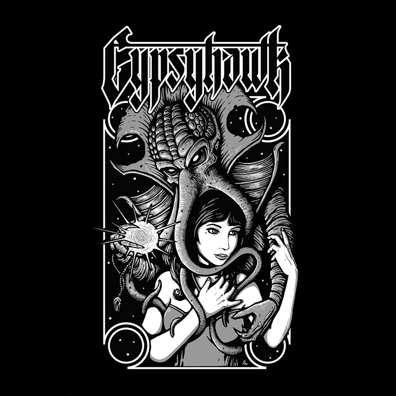 """Embrace of the Illithid"" Client: Gypsyhawk T-Shirt Design"