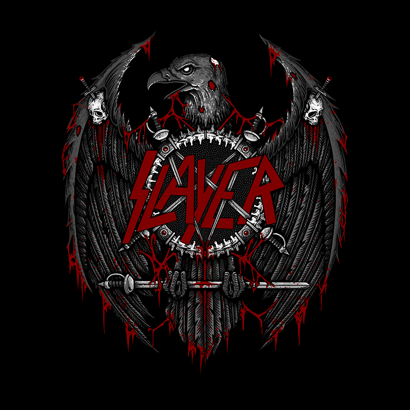 """Angel of Death"" Client: Slayer T-Shirt Design"