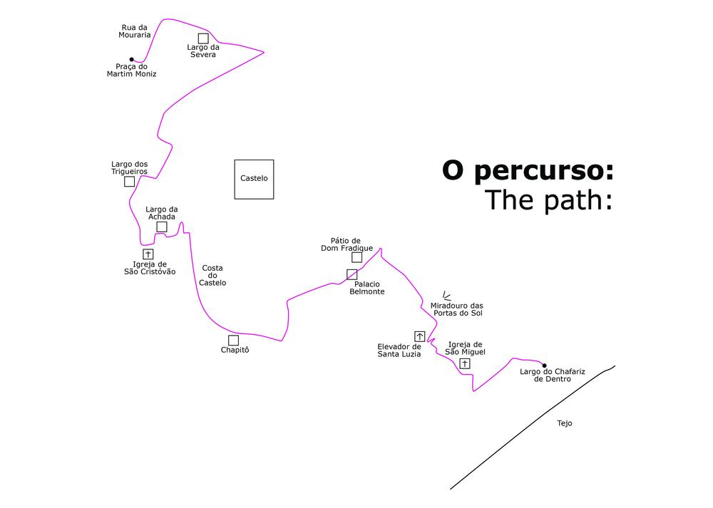 mapa do percurso com detalhe