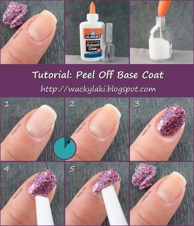 Elmers Glue Peel off glitter