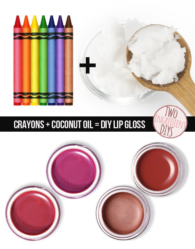 Make colored lipstick with crayola and coconut oil